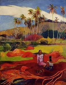 Tahitian women under the palms, 1892 - Paul Gauguin ...
