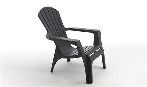 fauteuil de jardin gris anthracite en poplypropylene
