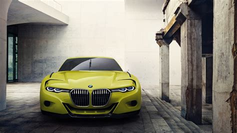 full hd wallpaper bmw sport car front view yellow desktop