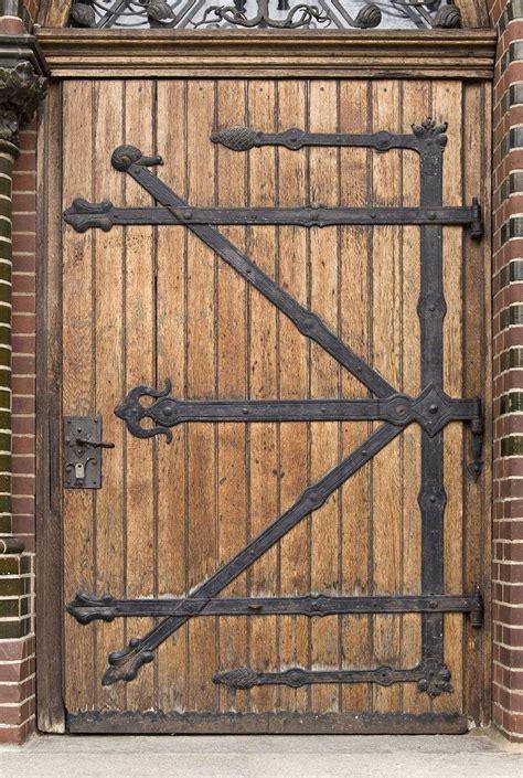 iron work  wood plank   castle door