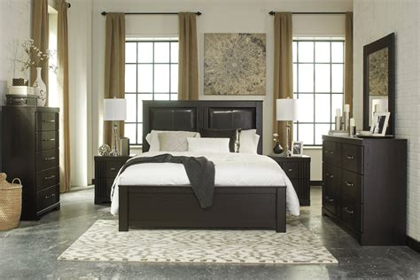 ashley tadlyn  piece bedroom set  dark brown clearance