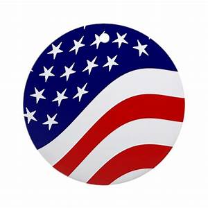 American Flag Christmas Ornament (Round) by americaneagle04
