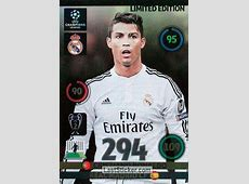 Card LECR Cristiano Ronaldo Panini UEFA Champions