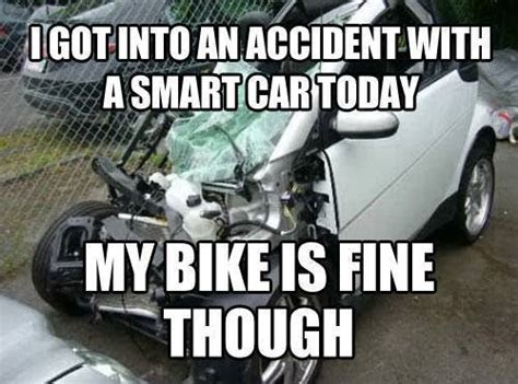 Car Accident Memes - accident with a smart car funny pictures quotes memes jokes