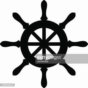 Silhouette Of Sailboat Steering Wheel Vector Art | Getty ...
