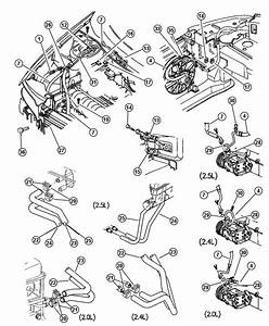 1999 Chrysler Sebring Hose  Heater Core  Outlet  Air