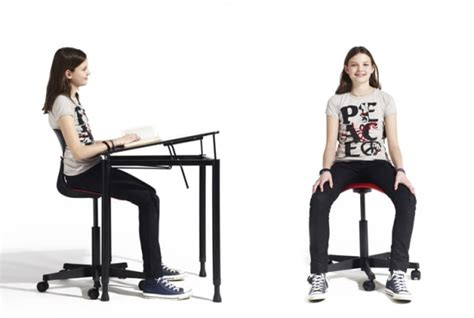 a school furniture system designed to make sitting