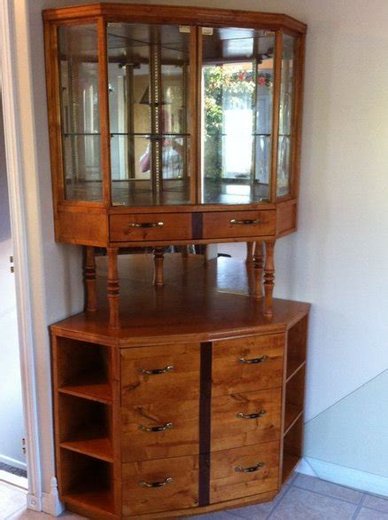 corner china cabinet corner china cabinet built with birch plywood and locally