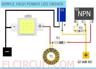 Simple High Power Led Driver Circuit Easy