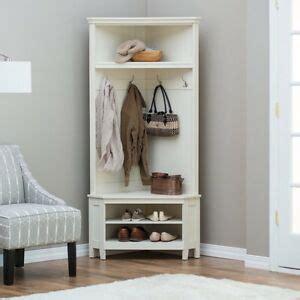 Corner Entryway Storage - tree storage bench white corner coat rack shoe shelf