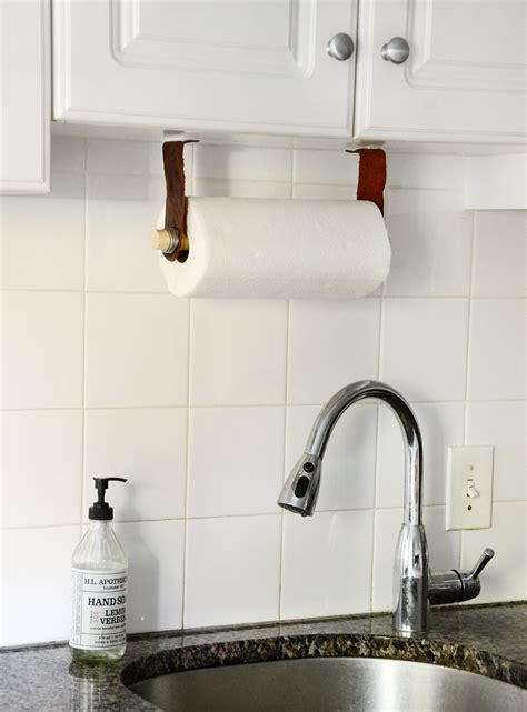 easy diy leather paper towel holder