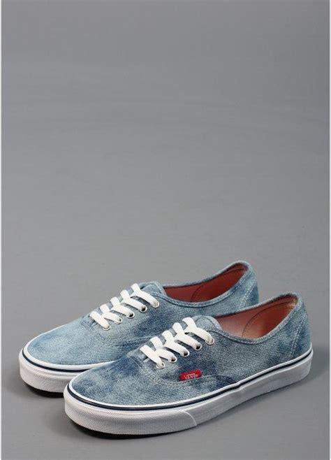 vans authentic denim shoes light blue triads