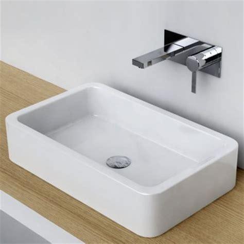 vasques salle de bain a poser vasque 224 poser rectangulaire 58x36 cm c 233 ramique