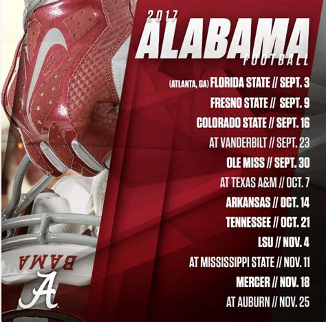 alabama releases  football schedule set  open