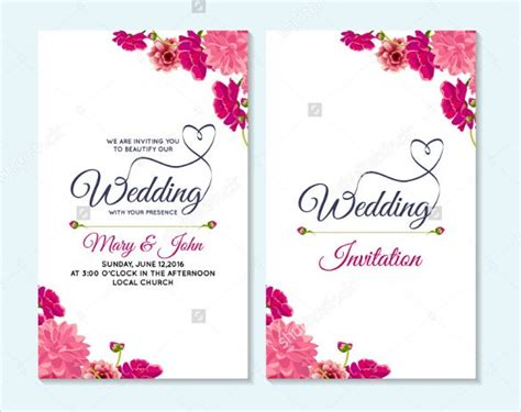 wedding card templates psd ai  premium