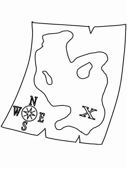 Coloring Map Pages Treasure Pirates Pirate Printable