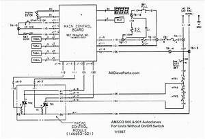 Amsco 900 Wiring Diagram  Without On  Off Switch