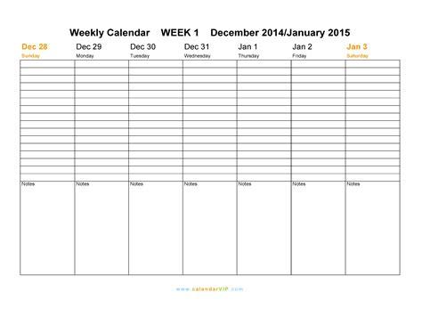 2015 Weekly Calendar Templates Costumepartyrun