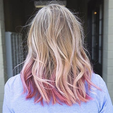 pink    blonde  love  pink hair