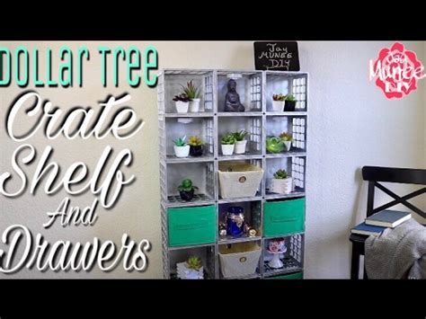 Dollar Tree Diy Crate Shelves And Drawers  Youtube