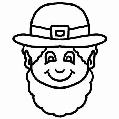 Leprechaun Clip Patrick St Face Clipart Coloring
