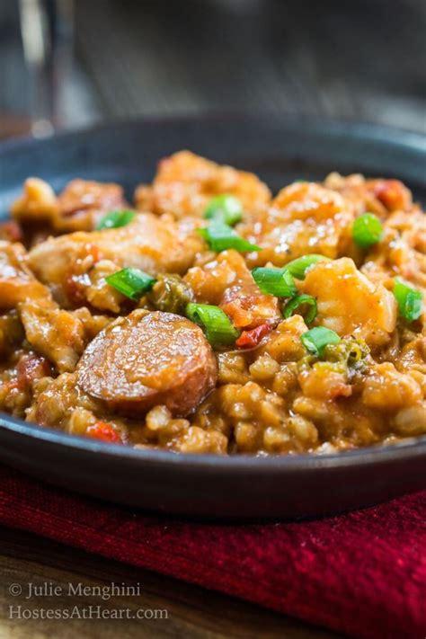 jambalaya cooker slow farro gras mardi recipe hostessatheart orleans