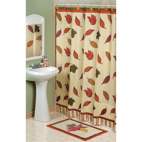 fall leaves shower curtain terrysvillagecom