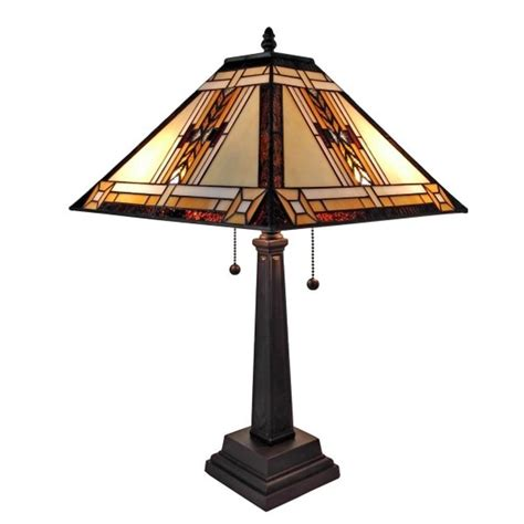 mission style tiffany l amora lighting 22 in tiffany style mission design table