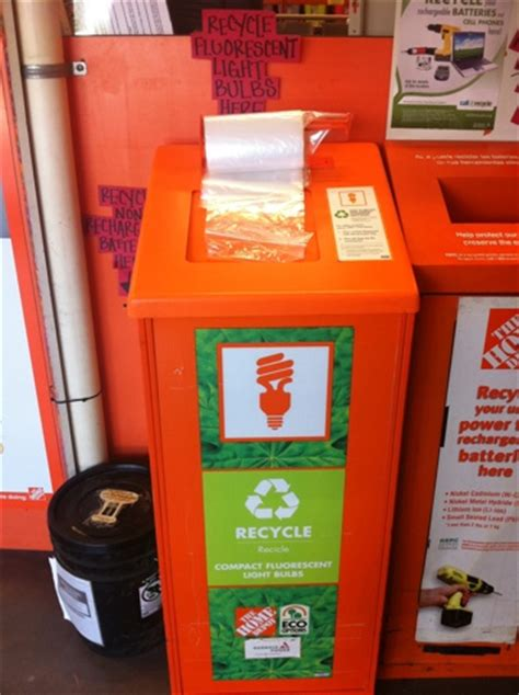 recycle cfl bulbs at home depot think outside the bin