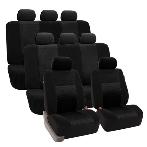 3 Seat Covers by Black Deluxe 3d Air Mesh 3 Row Seat Covers Fh 174