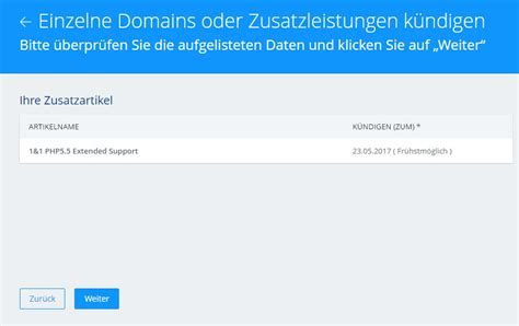ratgeber kuendigung  php extended support