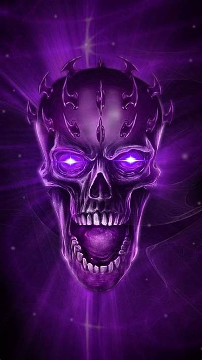 Skull Purple Theme Artwork Fantasy Sugar Dark