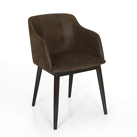 chaise cork alinea chaise de séjour capitonnée marron vieilli cork