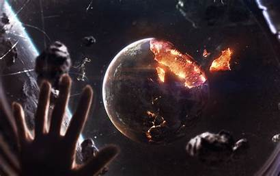 Planet Explosion Space Cosmic Apocalypse Object Astral