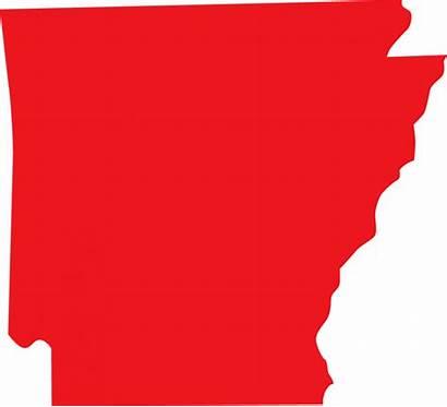Arkansas Clipart State Clip Silhouette Cliparts Sticker