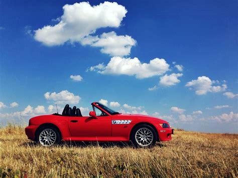 Bmw, Bmw Z3, Car, Cabrio, Red Cars, Landscape, Clear Sky