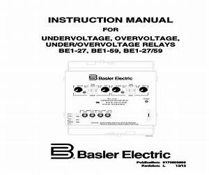 basler electric be1 59 manuals With general electric relay manuals