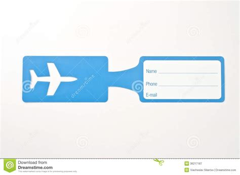Luggage tag stock image. Image of frame, label, card
