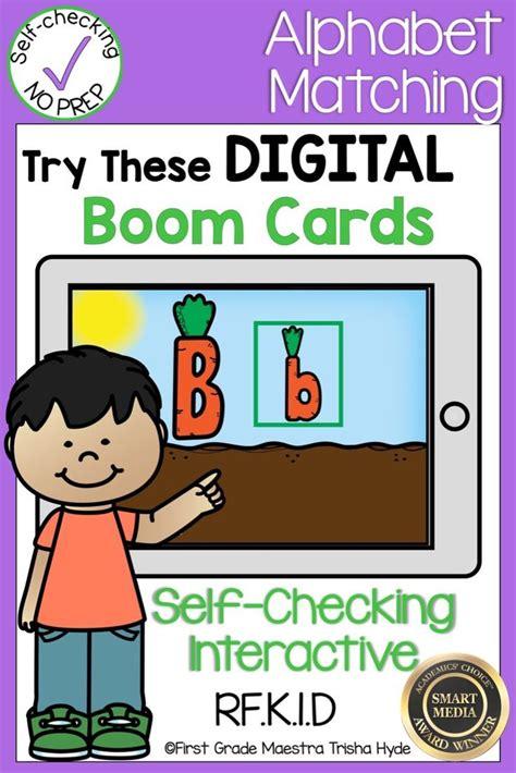 boom cards alphabet match  images alphabet