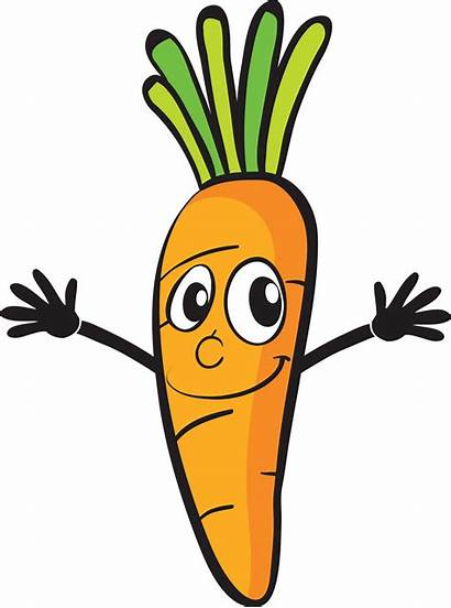 Cartoon Clipart Carrot Vegetables Vegetable Drawing Animated