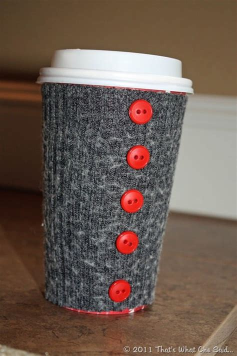 diy  coffee cup cozy  sock craft ideas popsugar