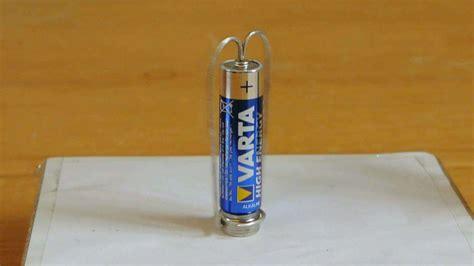 einfachster motor aus batterie schraube draht magnet
