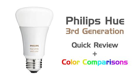 review philips hue white color led bulb 3rd generation