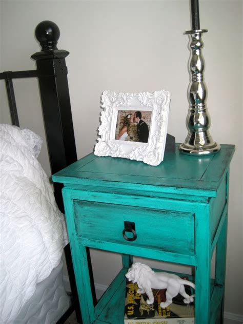 Teal Nightstand by Black White Silver Tantalizing Teal Nightstands Master