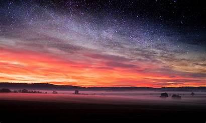 Night Sunset Starry Skyscape Stars Wallpapers 5k