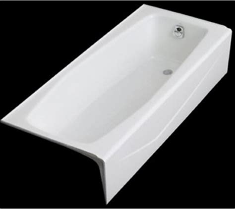 kohler k 716 0 villager bath with right hand drain white