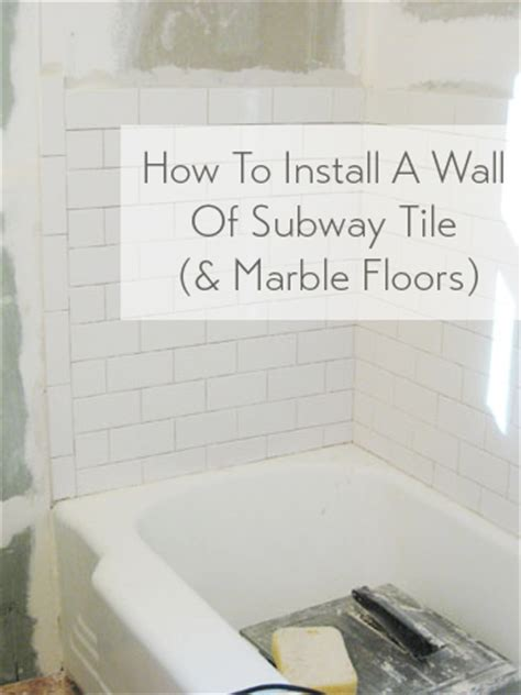How To Install Subway Tile In A Shower & Marble Floor