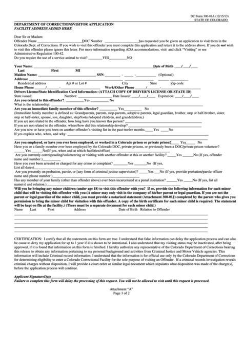 top  inmate visitation form templates