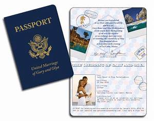 realistic usa passport invitation With passport wedding invitations template free download
