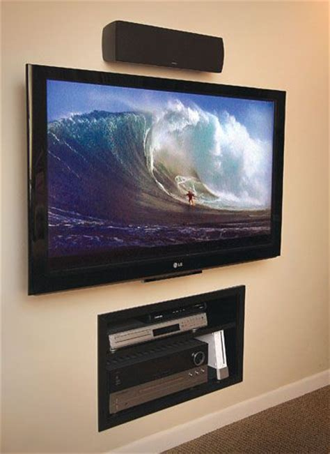 wall mounted tv  built  wall storage   home